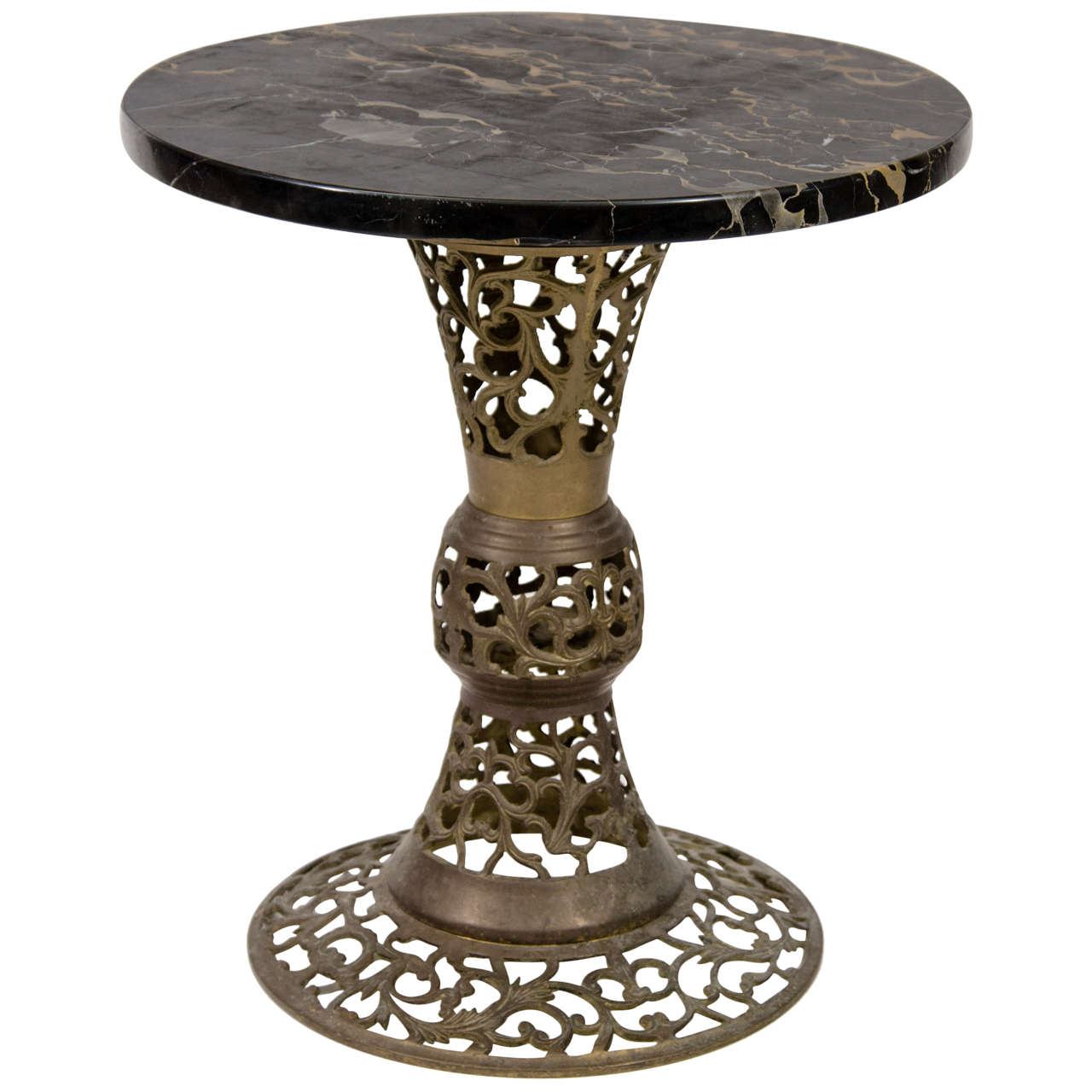 Vintage Italian Bronze And Marble Side Table At 1stdibs