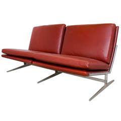 Mid Century Fabricius & Kastholm Leather and Steel Settee