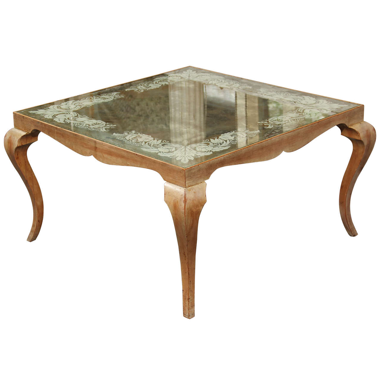 Mirrored Coffee Table At 1stdibs