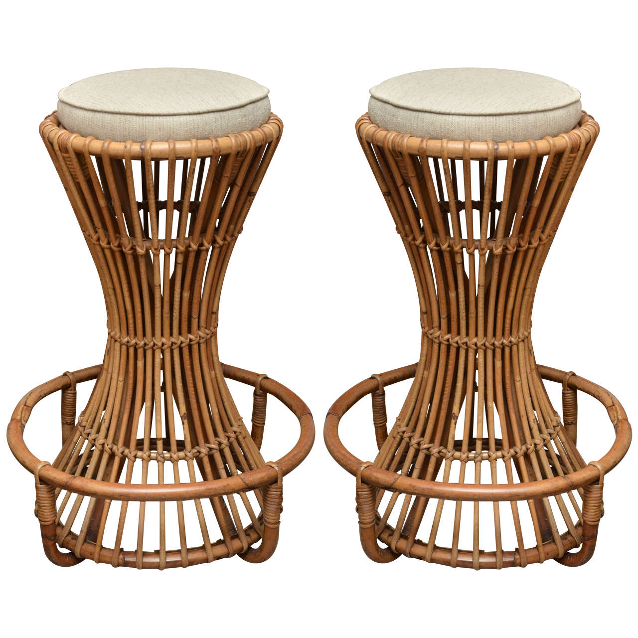 Pair of Bamboo Bar Stools by Tito Agnoli 1  sc 1 st  1stDibs & Pair of Bamboo Bar Stools by Tito Agnoli at 1stdibs islam-shia.org