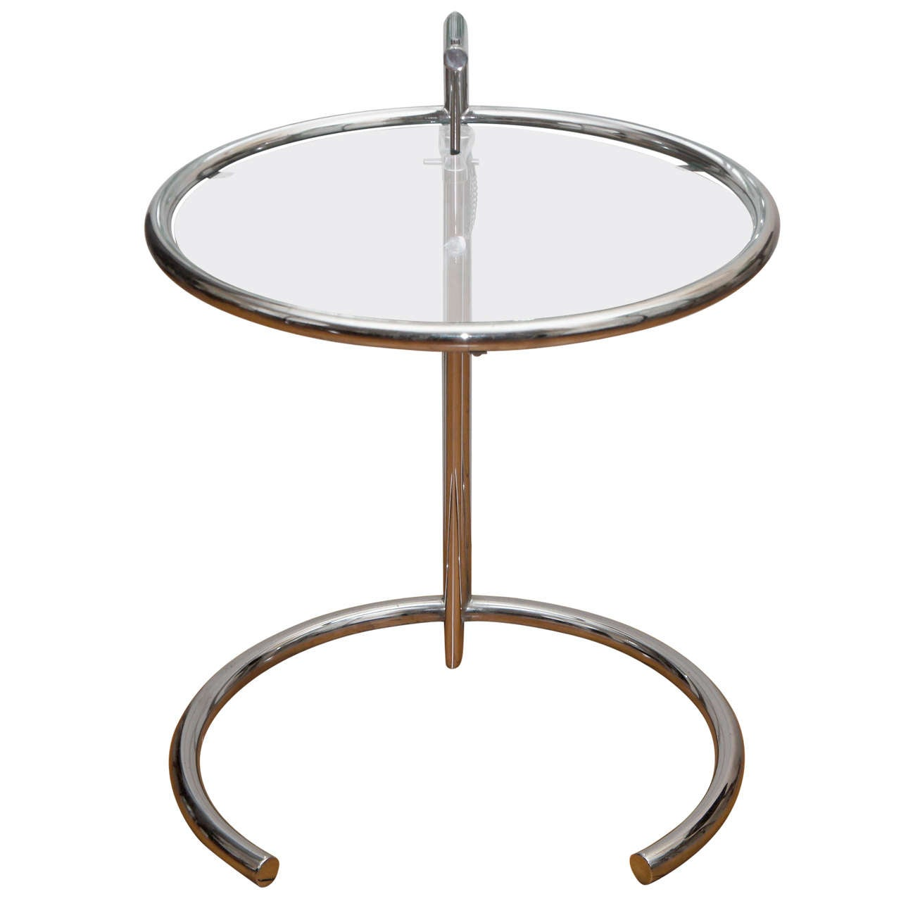 Eileen Gray Chrome And Glass Round Table For Sale At Stdibs - Eileen gray end table