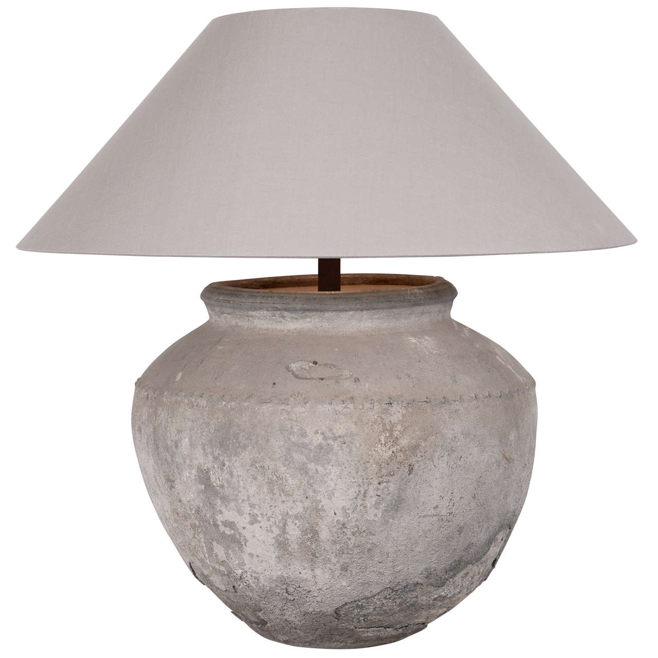 Pair Of Large Terracotta Table Lamps At 1stdibs
