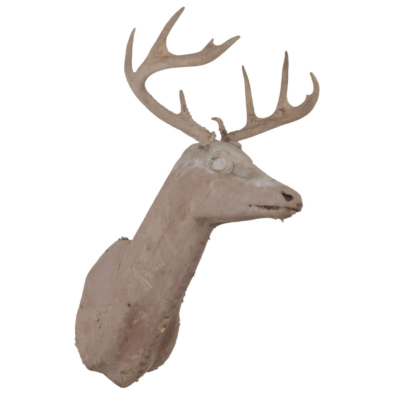 Vintage decorative carved stag head at 1stdibs - Decorative stags head ...