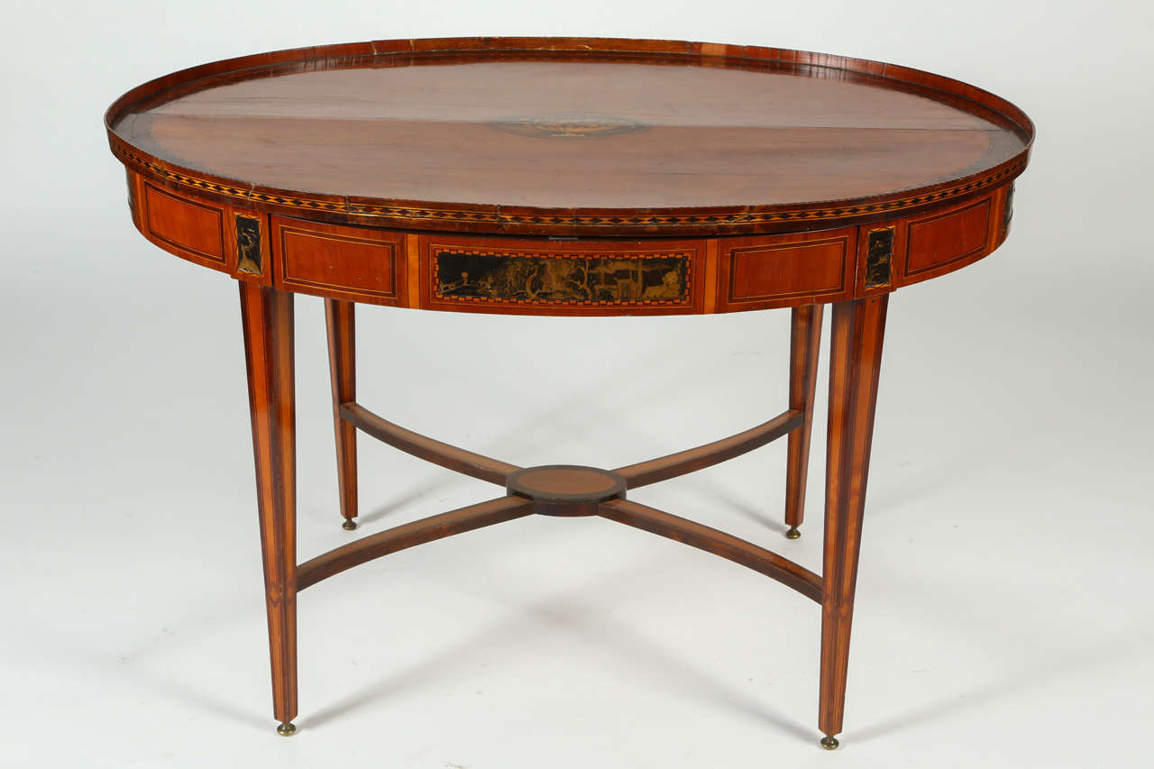 18th century dutch marquetry and japanned center table at for Table th center