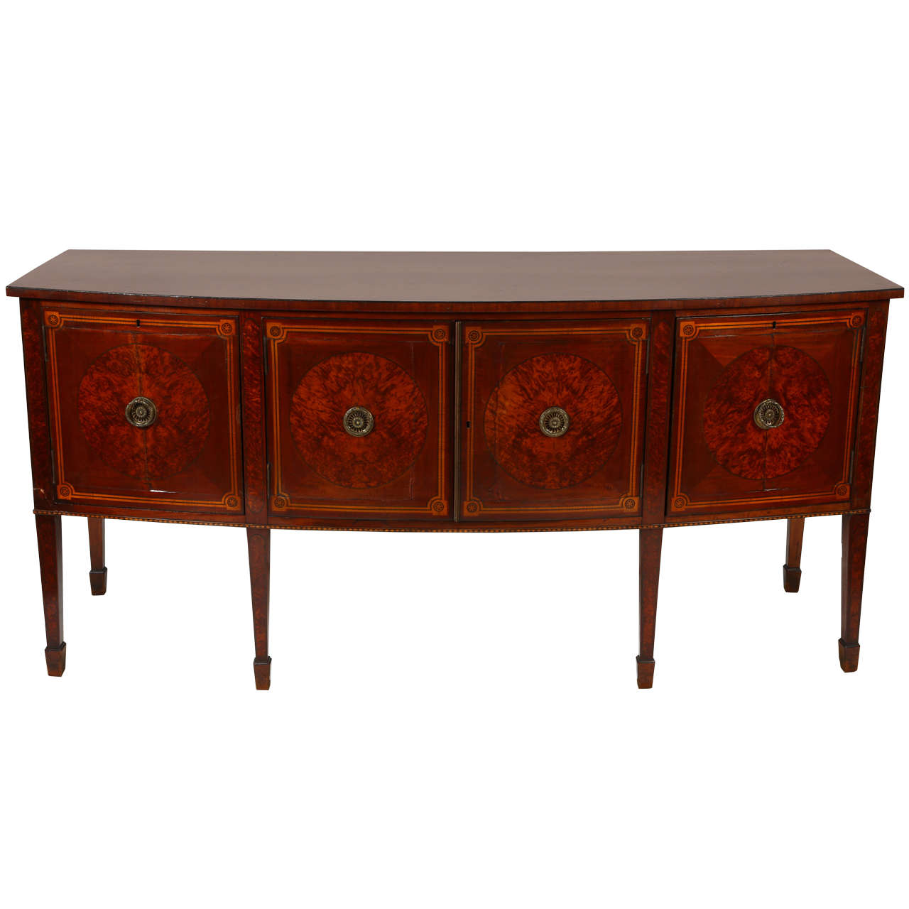 Hepplewhite Style Walnut Sideboard For Sale At 1stdibs
