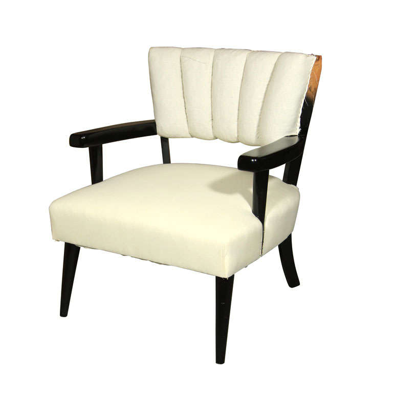 Banch Made Channel Back Arm Chair Marshall At 1stdibs