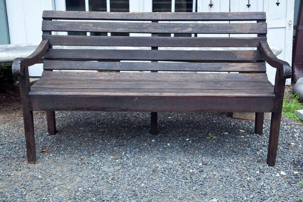 Antique French Doctor S Waiting Room Bench At 1stdibs