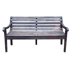 Antique French Doctor's Waiting Room Bench