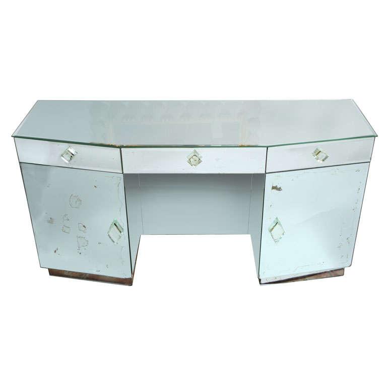 Vintage Mirrored Desk/Vanity at 1stdibs