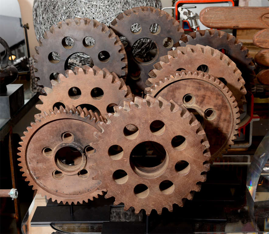 Collection of Early 20th Century Micarta Industrial Gears 4