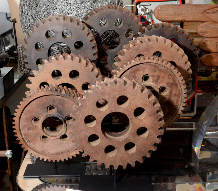 Collection of Early 20th Century Micarta Industrial Gears 5