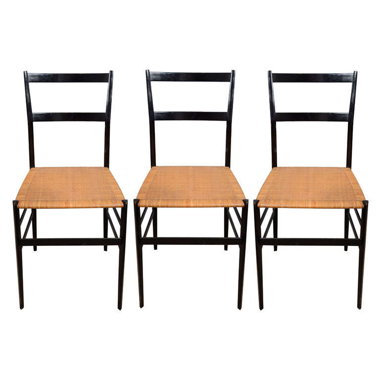single gio ponti superleggera dining chair with caned seat at 1stdibs