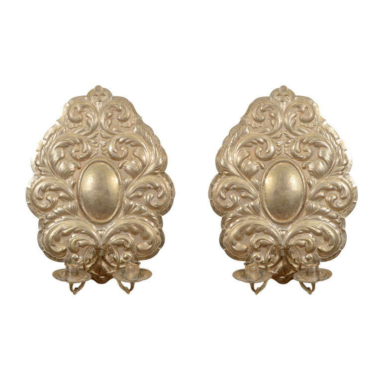 Pair of Dutch Baroque Style Two-Arm Sconces