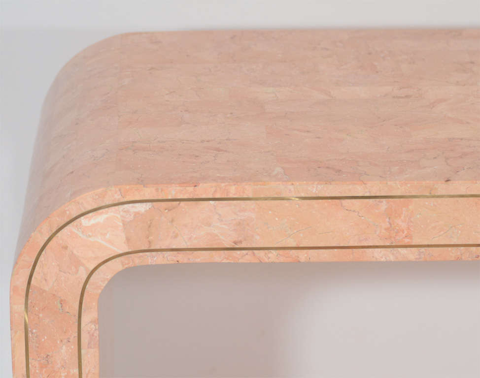 Philippine Console Table in Tessellated Coral by Maitland Smith For Sale