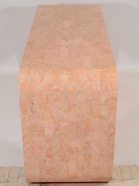 20th Century Console Table in Tessellated Coral by Maitland Smith For Sale