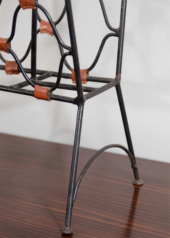 Jacques Adnet Magazine Holder In Good Condition For Sale In New York, NY