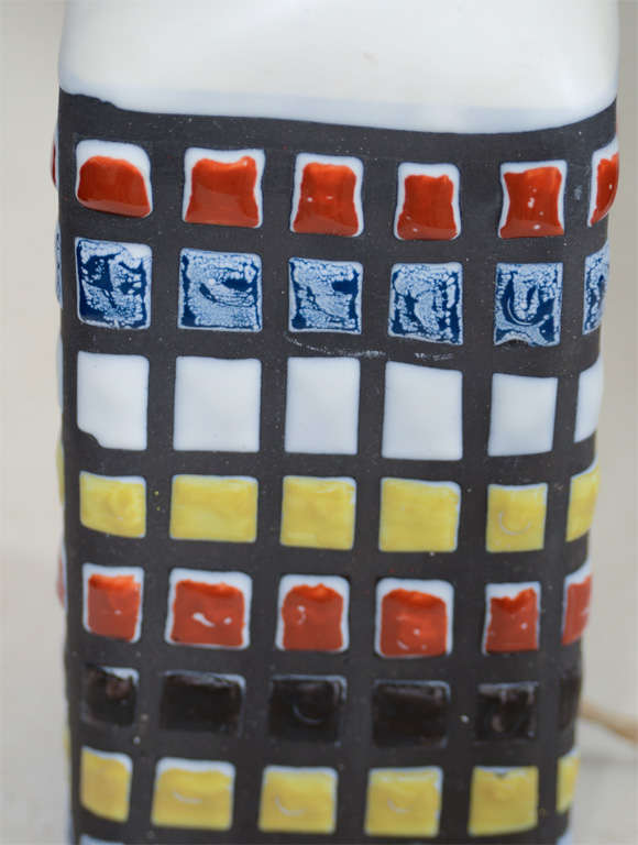 Linen Roger Capron Table Lamp For Sale