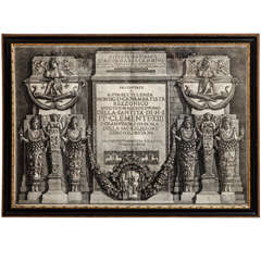 Framed Antique Etching by Piranesi