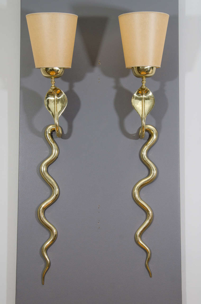 Bronze Cobra Sconces 2