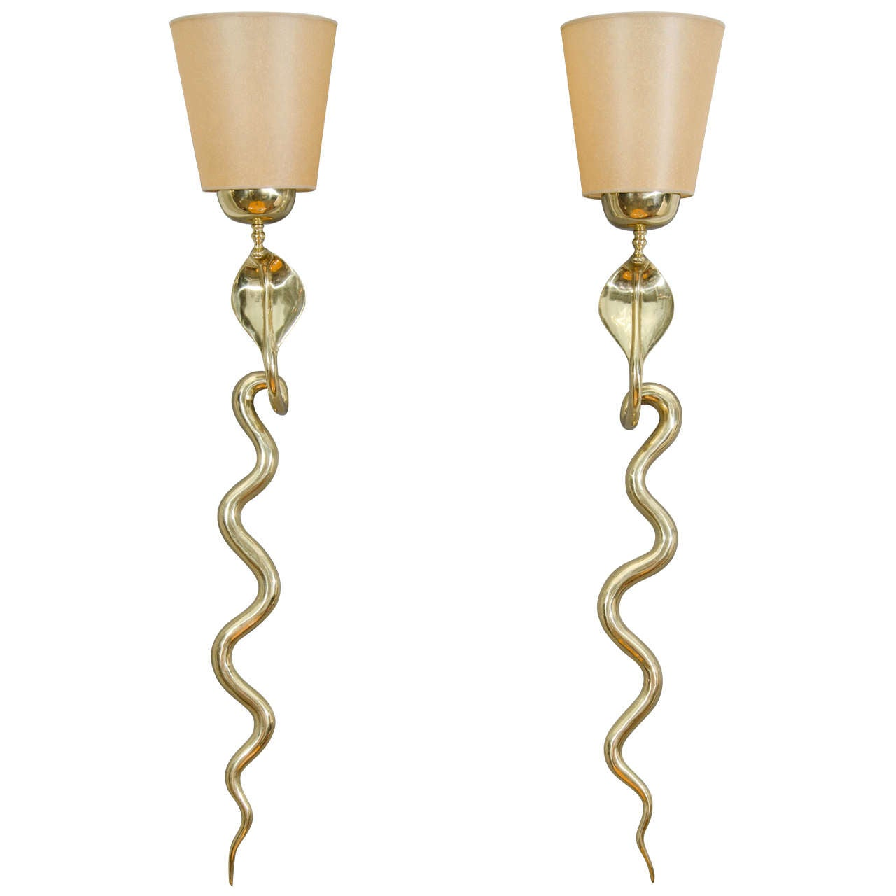 Bronze Cobra Sconces 1