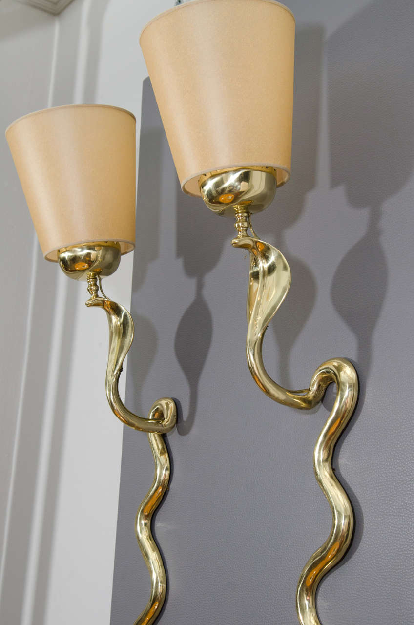 Bronze Cobra Sconces 6