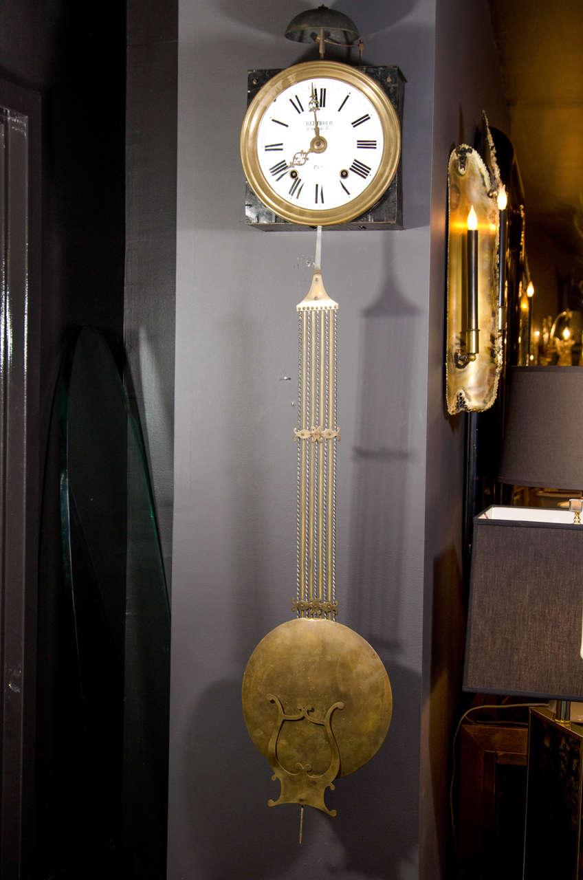 Rare 18th Century Parisian Wall Clock by Ferdinand Berthoud and