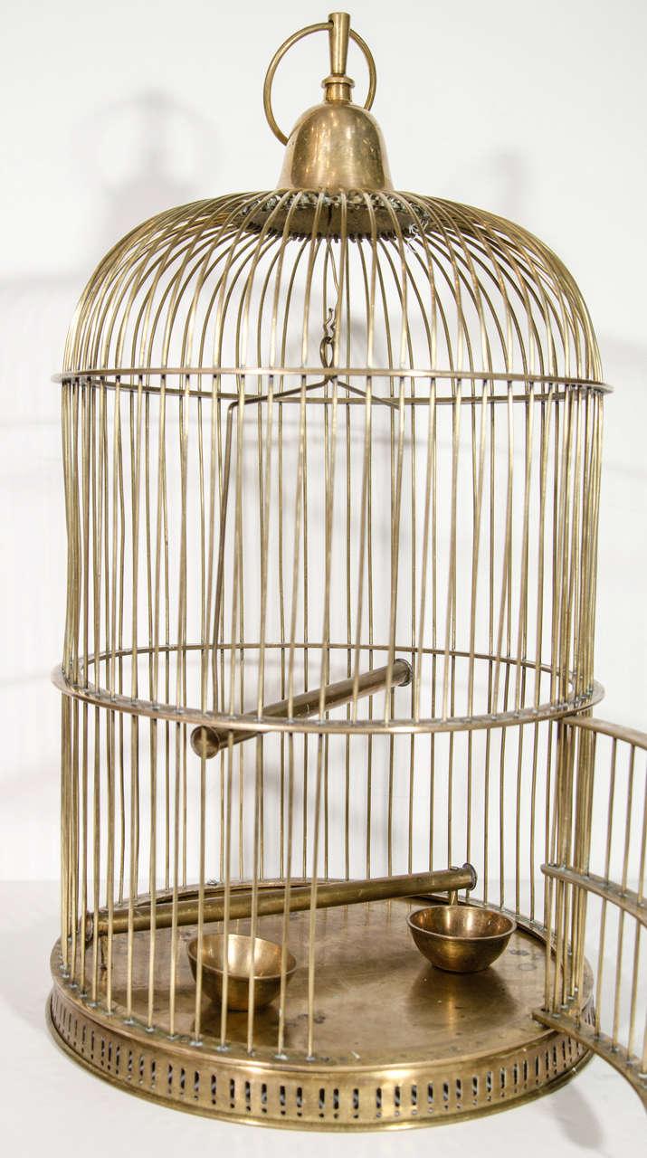 Exceptional Victorian Brass Bird Cage at 1stdibs