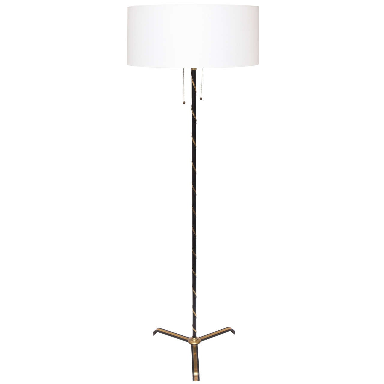 1940s French Art Moderne Floor Lamp For Sale