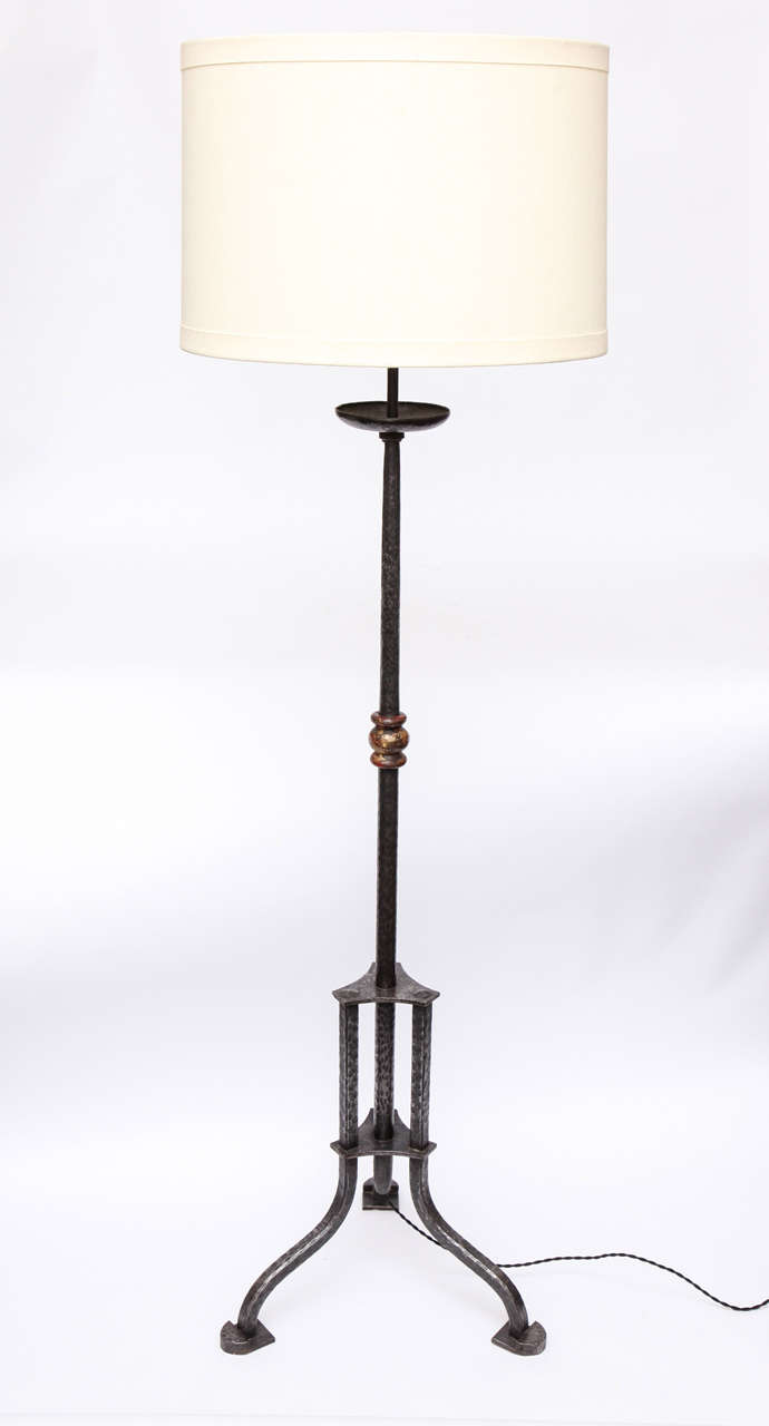 A 1920 39 s french art deco iron floor lamp at 1stdibs for 1920 floor lamp