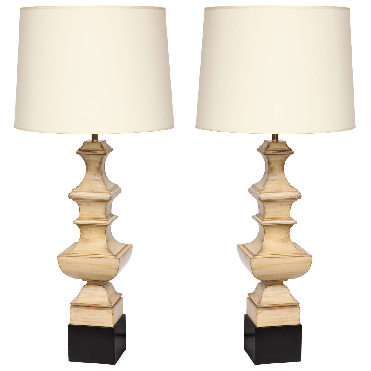 Pair of 1940s Art Moderne Table Lamps