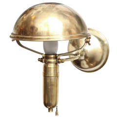 Brass Ships Wall Fixture/Table Lamp Signed Weber, 1909