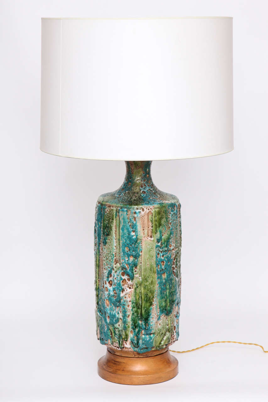 Pair Of 1950s Italian Ceramic Table Lamps At 1stdibs