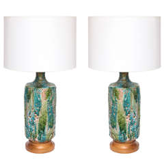 Pair of 1950s Italian Ceramic Table Lamps