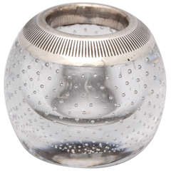 Edwardian Sterling Silver-Mounted Controlled Bubbles Match Striker