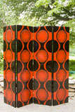 Black And Red Lacquer Folding Screen At 1stdibs