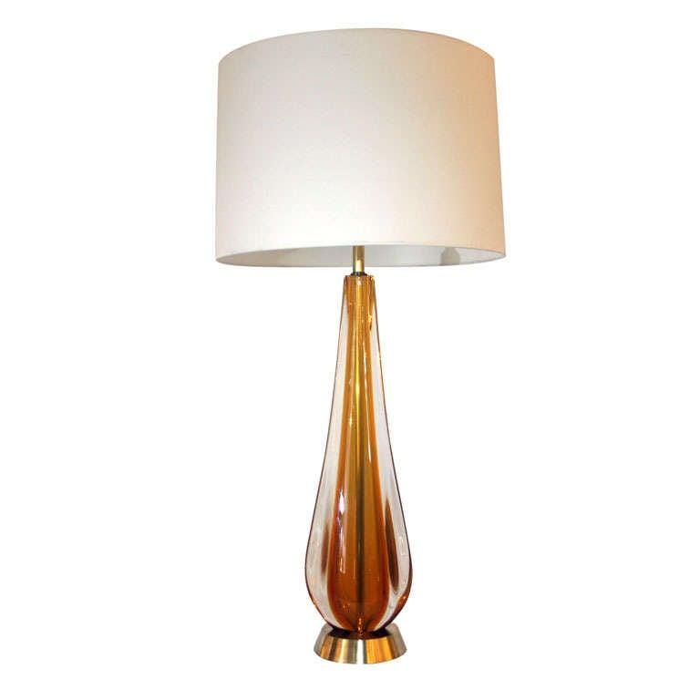 An Italian Art Glass Table Lamp by Salviati at 1stdibs