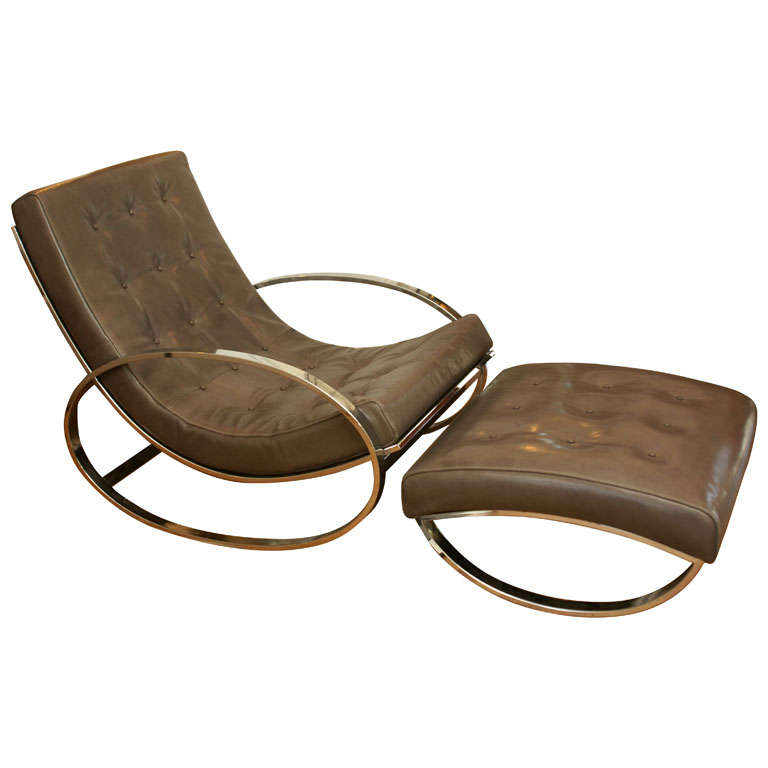 Great Modernist Rocker/Clubchair & Ottoman