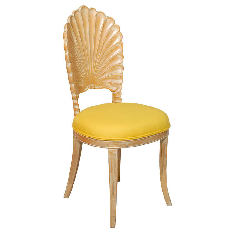 Yellow Shell Back Chair At 1stdibs