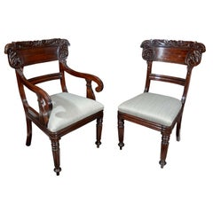 Set of Eight 19th Century Mahogany Dining Chairs
