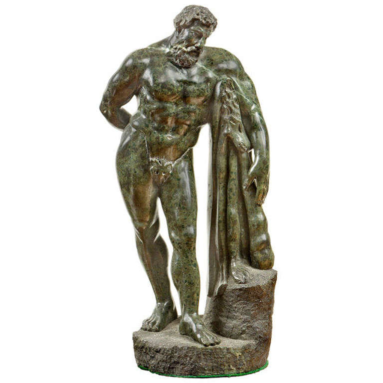 19th Century Marble Sculpture of the Farnese Hercules