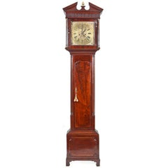 18th Century Irish, George III Mahogany and Brass Longcase Clock