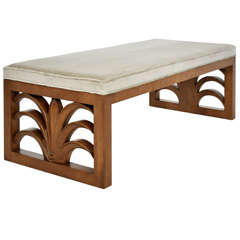 T.h. Robsjohn-Gibbings Lotus Leaf Bench