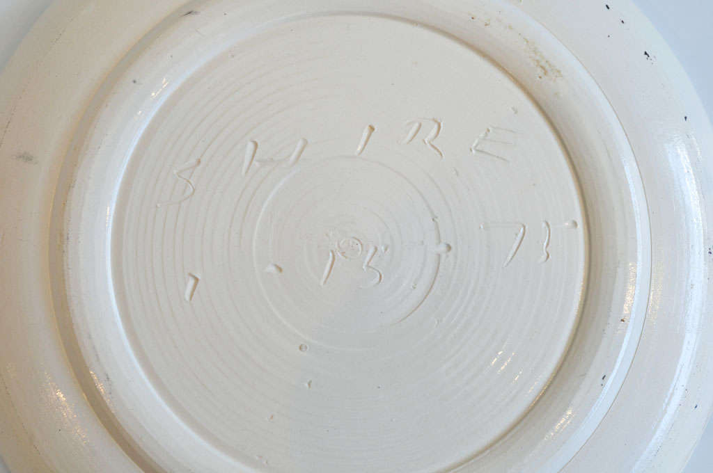 1970s Ceramic Plate by Peter Shire For Sale 1