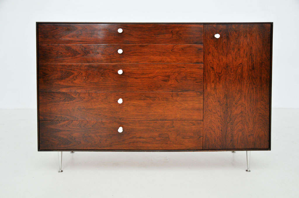 Mid-Century Modern George Nelson - Rosewood Thin Edge Cabinet For Sale