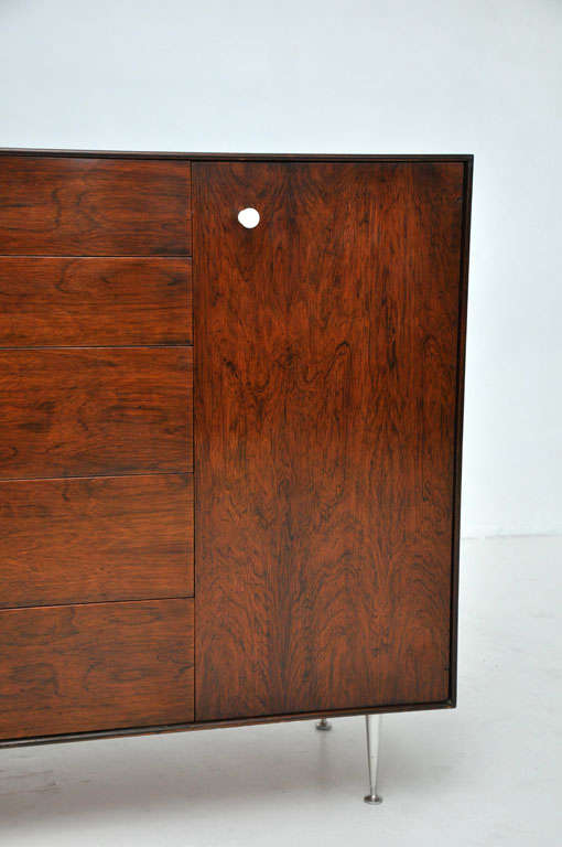 American George Nelson - Rosewood Thin Edge Cabinet For Sale
