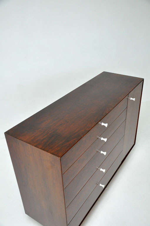 George Nelson - Rosewood Thin Edge Cabinet For Sale 1