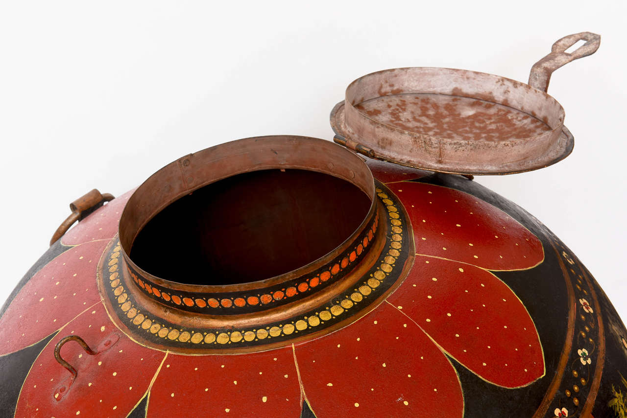 Over-Scaled Anglo Indian Tole Rice Barrel For Sale 2