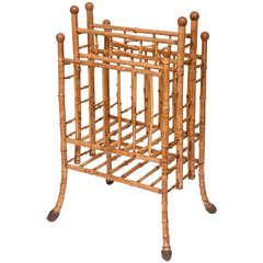 Superb 19th Century English Bamboo Magazine Stand