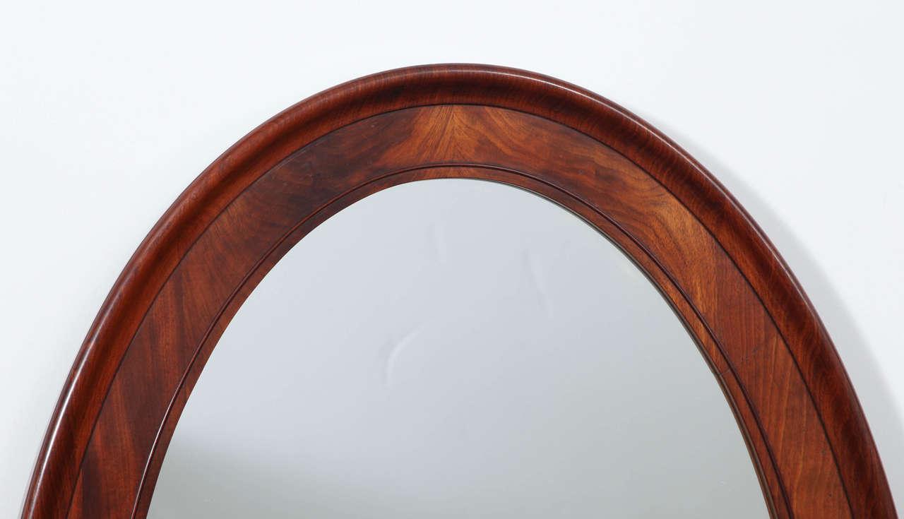 Arched gilt mirror at 1stdibs - Danish Oval Mahogany Mirror 3