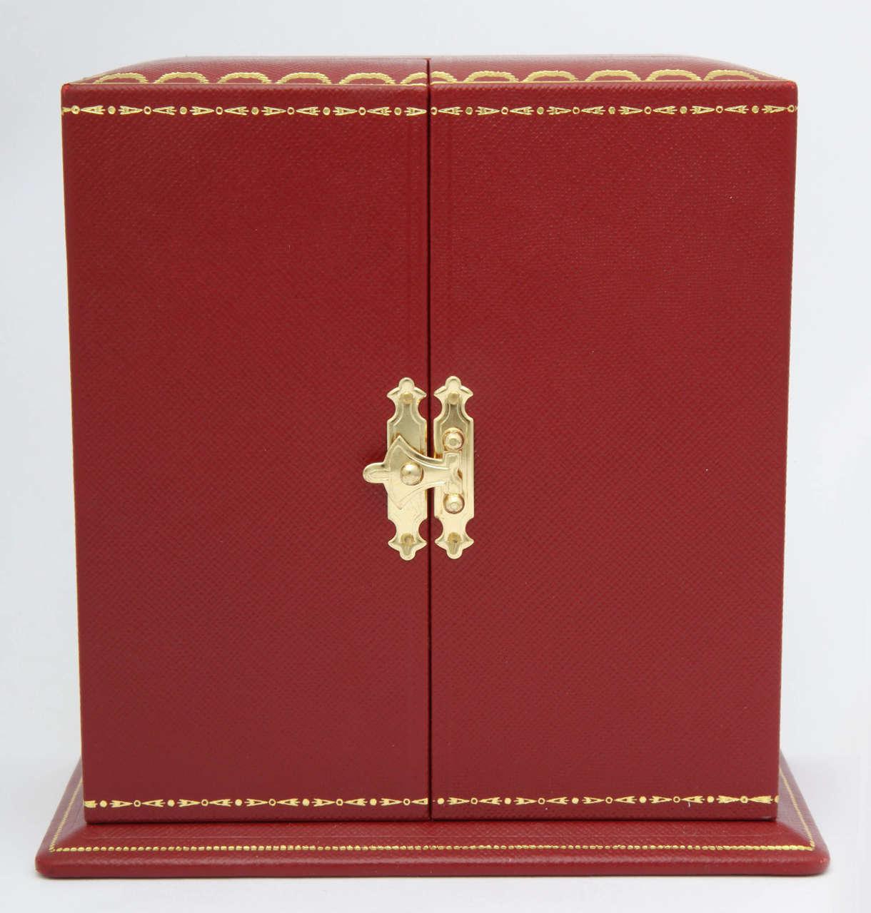 British Cartier Desk Clock and Lighter For Sale